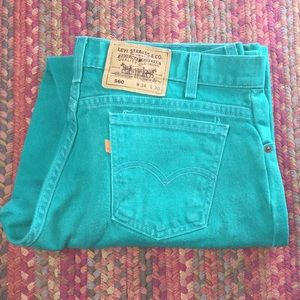 RARE ORANGE TAB GREEN 560 LEVIS